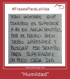 #6 #Humildad
