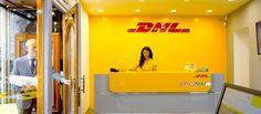 insegne Roma, insegne negozi Roma, insegne DHL Servicepoint Piazza Monte Citorio Roma