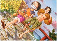 Anime One Piece Monkey D. Luffy Portgas D. Ace Fond d'écran