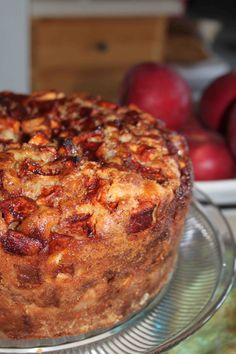 Anxious to see if this is the same recipe that was given to me 23 years ago from a Jewish lady I worked with. Everyone always raved about it whenever I made it. Very labor intensive but worth it :) Jewish Apple Cake Apple Desserts, Apple Recipes, Just Desserts, Delicious Desserts, Yummy Food, Kosher Recipes, Baking Recipes, Cake Recipes, Dessert Recipes