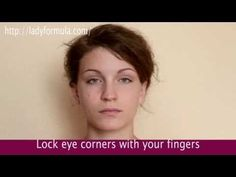 How to Tighten Droopy Eyelids and Reduce Wrinkles around the Eyes Facial Eye Exercises. How to Tighten Droopy Eyelids Saggy Eyes, Droopy Eyelids, Facial Yoga, Face Exercises, Workout Hairstyles, Loose Skin, Excercise, Beauty Secrets, Health And Beauty