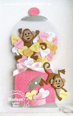 Voor mijn werkstuk van vandaag ben ik aan de slag gegaan met de snoephartjes. Het idee om de snoephartjes in een snoepmachine te stoppen...