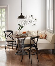 Make dining more comfy! Our Easton Breakfast Nook is a comfortable place to sit. Turn an empty corner of the kitchen into a cozy spot to brunch with this nook, a table and a couple of dining chairs. HomeDecorators.com