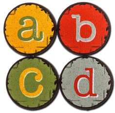 Guests will never forget whose drink is whose with these urban-chic lettered coasters from Flox.  Featuring the letters a,b,c,d this set of 4 coasters is made from 100% recycled rubber and won't slip or scratch your surfaces.