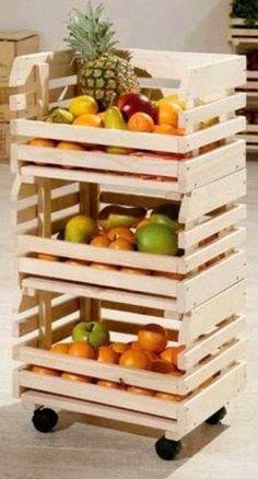 10 ideas para decorar con cajas de frutas   Decoración