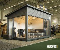 Moderni Puutarhan Olohuone www.huone1.fi Gazebo, Pergola, Summer Kitchen, Outdoor Living, Outdoor Decor, Tiny House, Small Houses, Future House, Bamboo