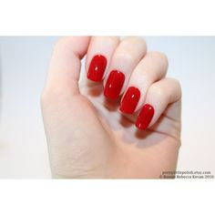 Red short square nails, Nail designs, Nail art, Nails, Stiletto nails,... ❤ liked on Polyvore featuring accessories