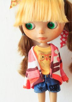 Sugarbabylove  Yellow owl set for Blythe by sukra on Etsy, $54.00