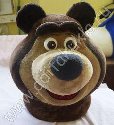 Голова ростовой куклы Медведь из мультфильма про Машу