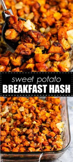 Crispy sweet potato hash with caramelized garlic and onion – this has so much flavor! Crispy sweet potato hash with caramelized garlic and onion – this has so much flavor! Potato Hash Recipe, Crispy Sweet Potato, Potatoe Casserole Recipes, Paleo Sweet Potato, Sweet Potato Casserole, Recipes With Sweet Potatoes, Sweet Potato Breakfast Hash, Kitchens, Healthy Dinner Recipes