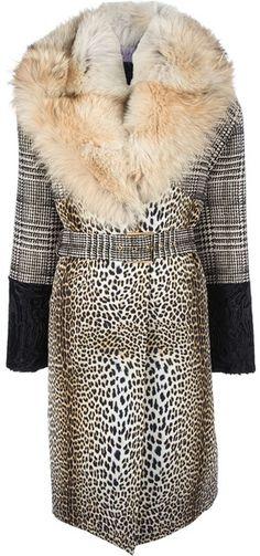 067ff3282d3a Emanuel Ungaro Leopard Print Coat - Lyst Fur Fashion, Fashion Books,  Fashion Prints,