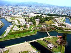 Goryōkaku Fort 五稜郭 桜 Hokkaidō pref
