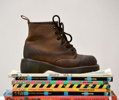 Amazing 90s Brown Dr. Martens Boots Size Women 5 by Hookedonhoney