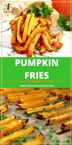Easy to make Fries with a Healthier Choice made from Pumpkins Sugar Free Recipes, Gluten Free Recipes, Low Carb Recipes, Healthy Recipes, Diabetic Recipes, Healthy Food, Best Dinner Recipes, Summer Recipes