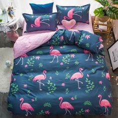 Funny Flamingos Bedding Set //Price: $68.93 & FREE Shipping //     #homedesign
