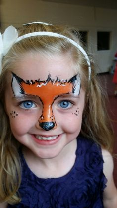 Foxy face painting by BerryBlue.co.uk