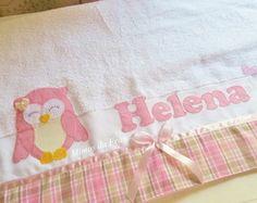Toalha de banho coruja Helena