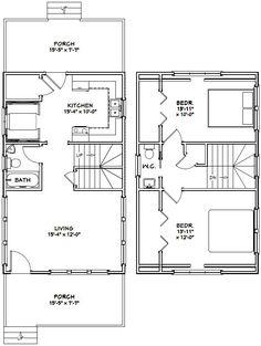 18x30 House -- #18X30H7C -- 999 sq ft - Excellent Floor Plans