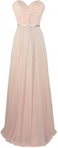 Onlinedress Women's Sweetheart Long Chiffon Bridesmaid Dress Size 14 Champagne