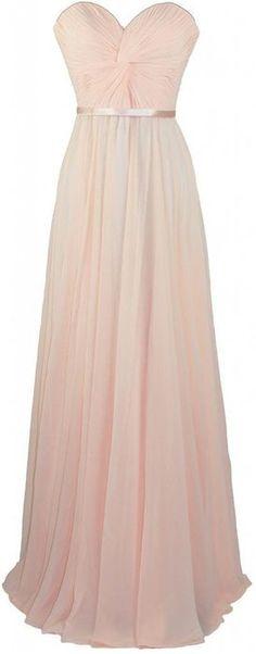 Onlinedress Women's Sweetheart Long Chiffon Bridesmaid Dress Size 14 Champagne
