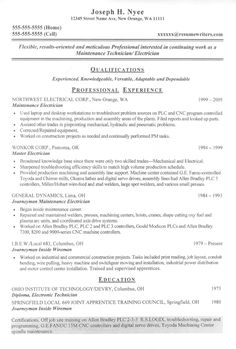electrician resume samples sample resumes