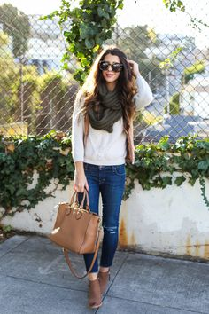 Casual Winter Style   how to style a scarf   winter style   winter fashion   styling for fall and winter   cold weather fashion   style ideas for winter   fashion tips for winter    The Girl in the Yellow Dress