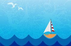 Poema para niños : El velero hacia la mar | Sobrevolando las aguas navegaba el velero sobre la mar. ¡Velero! Gritaban los delfines. ¡Velero! Cantaban las ballenas