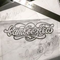 Typography by hand.