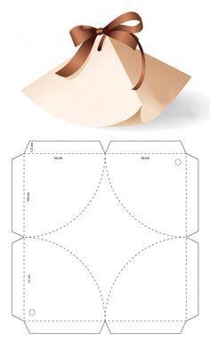 Descarga gratis el molde en mi sitio web Diy Gift Box, Diy Box, Diy Gifts, Gift Boxes, Paper Crafts Origami, Diy Paper, Paper Art, Paper Box Template, Box Templates