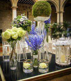 Decoración floral elegante para una boda en el Parador de Lerma por Mar de Flores #flores #flowers #decoration #weddings #bodas #spain