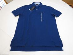 Men's Tommy Hilfiger Polo shirt S small solid NEW 7845143 Kings Blue 404 royal #TommyHilfiger #polo