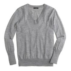 Merino Wool v-neck sweater is perfect to wear with a button down shirt underneath with jeans.