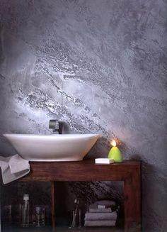 Giorgio Graesan decorazione effetto pietra spaccata verticale segui il tuo istinto