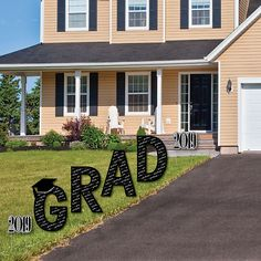 1489c89dbe2e GRAD - Graduation Cheers - Yard Sign Outdoor Lawn Decorations - 2019  Graduation Party Yard Signs