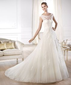 Pronovias Wedding Dress - Ofira. To see our Pronovias collection visit: http://www.lovethatfrock.com/preview/?designer=37