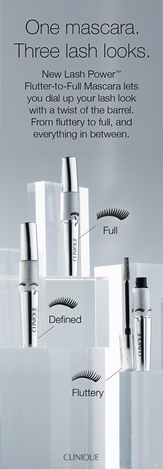 How to get the perfect lash look: Clinique's custom-lash mascara dials up the volume from flirt to full-on phenomenal with the twist of a barrel. Resists smudges and smears for up to 24 hours, yet removes easily with warm water. Change your lash, change your look.
