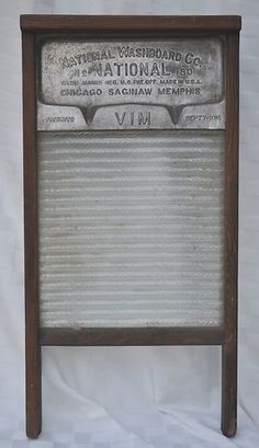 Antique Wash Board National Washboard Co Wood Glass Vintage Laundry Board | eBay
