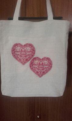 Nákupná taška Textiles, Reusable Tote Bags, Fabrics, Textile Art
