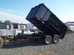 2017 dump trailer 14000 GVWR equipment dumping 4 ft high new 7 x 12 low pro Dump Trailers For Sale, Best Trailers, Covered Wagon, Heavy Equipment, Monster Trucks, Ebay, Twin, Things To Sell, Twins