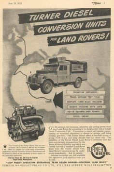 Land Rover S1 Turner Diesel Conversion