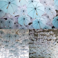 Environmental artist Kaisa Berry and creative director Timo Berry of BOTH conceived of this lighter-than-air umbrella cloud suspended above a main stage| #abstract #umbrella #instalike #flying #fineart #art #abstract #abstractart #environment #instadaily #like4like #environmental