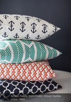 Arrows Fabric from Caitlin Wilson Textiles in Teal