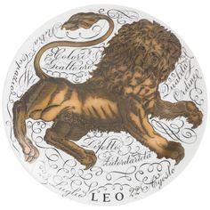 Piero Fornasetti Porcelain Horoscope Plate No 2 Leo, Italy 1965 1