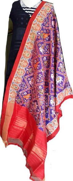 Buy Purple Handloom Ikat Pure Silk Dupatta-/LWIKDRE24_Purple_Handloom_Ikat_Pure_Silk_Dupatta.jpg
