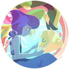 Lost at Sea +video by BeautySnake Steven Universe Pictures, Steven Universe Drawing, Steven Universe Movie, Universe Art, Lapis Lazuli Steven, Steven Universe Stickers, Sea Video, Steven Universe Lapidot, Lapis And Peridot
