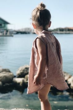 Sweet Handmade Linen Dress by bumblegoosie on Etsy