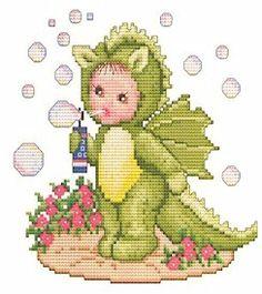 Dragon Baby Cross Stitch Pattern
