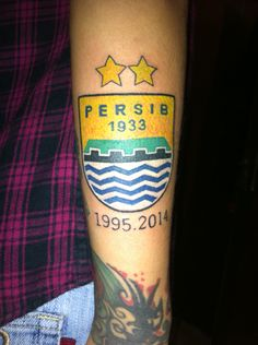 persib football soccer tattoo logo