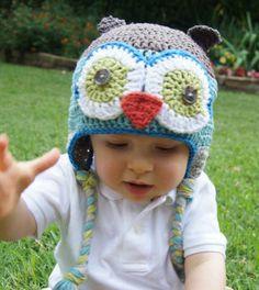 Crochet Owl Hat from Littlr Noggin Knits