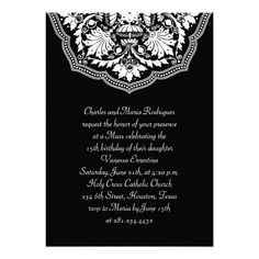 White & Black Latin Pattern Quinceanera Invitation in each seller & make purchase online for cheap. Choose the best price and best promotion as you thing Secure Checkout you can trust Buy bestHow to          White & Black Latin Pattern Quinceanera Invitation Review on the Thi...